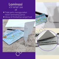 Anti Gores / Laminating KTP SIM NPW ID CARD Isi 30 lmbr