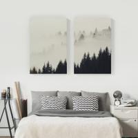 Wall Print Art Photo Pemandangan Hutan Pinus