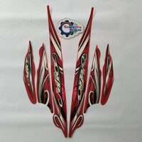 Stiker Motor Yamaha Mio Sporty 2010 Merah