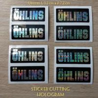 stiker cutting ohlins thailook STIKER MOTOR OHLINS