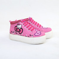 sepatu anak perempuan sneakers casual boots anak hello kitty CUNAXX