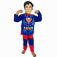 setelan anak kostum superman baju celana topeng superhero