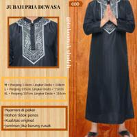 Fashion Muslim Ramadhan Pria Jubah Sholat Cowok Bordir Jubah Solat