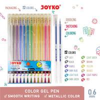 Color Gel Pen Pena Jel Warna Joyko GPC-317 Metallic Gel 12 Warna 0.6mm