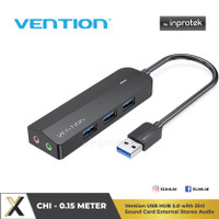 Vention USB Hub 3.0 Soundcard Stereo Audio 2in1 Headphone and Mic