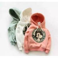 Cod Sweater hoodie Mickey Mouse Logo bahan baby terry umur 0-5 tahun