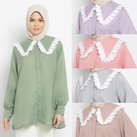 AGHANID Aghanid blouse busui friendly baju atasan muslim wanita - Merah Muda