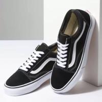 Vans-sepatu vans-sepatu putih-seneakers-sepatu pria-sepatu - hitam putih, 39