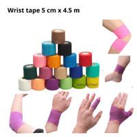 Wrist Tape / finger tape 5 cm x 4.5 m taping bukan kinesio - Kuning