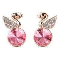 Swan Crystals Earrings WG - Anting Crystal by Her Jewellery