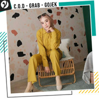 Piyama Gamis Rayon Setelan Pajamas Ori one set Premium Polos Uniqlo