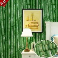 Wallpaper Dinding Motif Bambu Hijau Tua Stiker Dinding Plapis Kayu