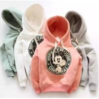 Sweater anak mickey hoodie bahan baby terry umur 0-5 tahun