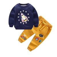 Baju setelan kaos celana panjang training anak baju musim dingin