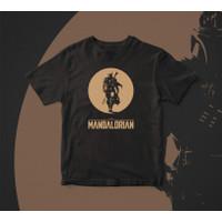Kaos The Mandalorian : Star Wars distro sablon - dark edition shirt - L, Hitam