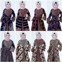 Gamis Anak Perempuan Syari Modern / Baju Batik Anak Kids Model Terbaru