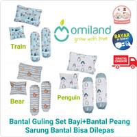 Omiland Bantal Guling Set Baby + Bantal Lengan Penguin Series OB08071