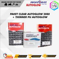 Paket Clear Coat Autoglow 2080 HS 2:1 + Thinner Autoglow PU