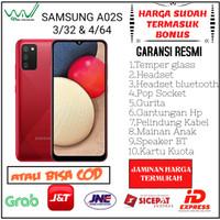 SAMSUNG A02S 3/32 GB & SAMSUNG A02S 4/64 GB GARANSI RESMI