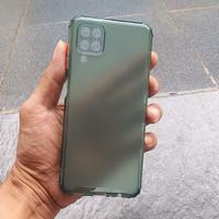 Samsung Galaxy A12 Case Matte Bumper Softcase Casing Cover