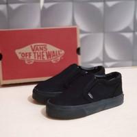 sepatu anak anak laki laki vans anak slip on slop full black