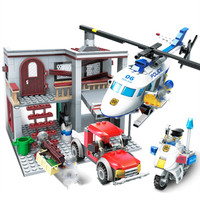 Sembo 465pc Helicopter hunting City LEGO compatible POLICE helikopter