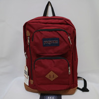 Tas Ransel Jansport Austin Viking Red Maroon Backpack ( Original Bag )