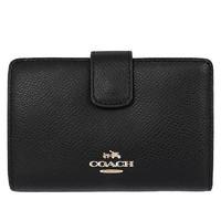 Coach Medium Crossgrain Leather Zip Wallet