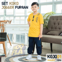 Setelan Baju Koko Celana Joger Anak Laki Laki terbaru 6 8 10 12 Tahun