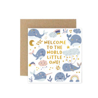 Kartu Ucapan Baby / New Born Card Harvest Baby Wishes - Welcome Boy