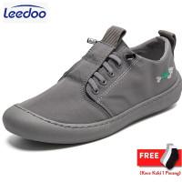 Leedoo Sepatu Sneaker Pria Import Kets Kasual Santai Light Shoes MC102 - Abu-abu, 42