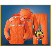 Jas Hujan RAINGARD Industrial Safety Raincoat Setelan Baju Celana Moto - Orange, L