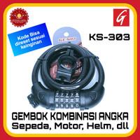 GENIO KS-303 Gembok Sepeda Kombinasi Angka