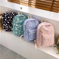 ANTI AIR Ransel Bunga Daisy Vintage tas punggung sekolah anak Pastel