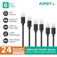 Aukey Cable CB-D17 Micro USB 2.0 (6Pcs) BLACK - 500092