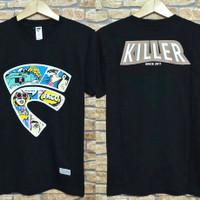 kaos pria warna hitam friday killer/baju pria Friday killer
