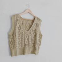 Hera Vest Cable Rompi Rajut knit wanita premium terbaru