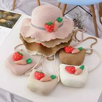 Topi Pantai Anak + Tas Jerami Rajut Korea Import / Straw Hat