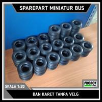Ban karet miniatur bus tanpa velg
