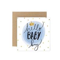Kartu Ucapan Baby / New Born Card Harvest Baby Wishes - Polka Boy