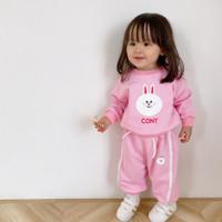 Setelan cony baju anak perempuan umur 1 2 3 4 5 6 7 tahun murah lucu
