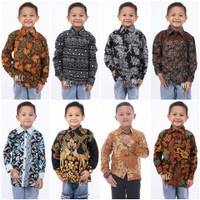 Baju Batik Anak Laki Laki Lengan Panjang Modern Usia 2 Sampai 10 Tahun