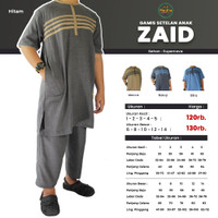 Setelan Baju Muslim Anak Laki Laki Model Gamis dan Sirwal Bahan Katun