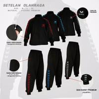 Setelan Baju Olahraga Pria Wanita Jaket Sweater Training Celana Jogger