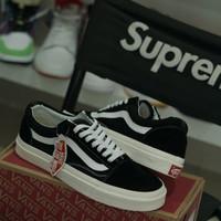 vans old skool ORIGINAL classic blck white sepatu sneakers pria wanita