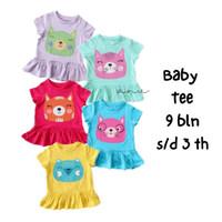 Kaos Bayi Balita Anak Perempuan 9 bulan - 3 Tahun T-shirt Lucu
