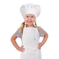 topi koki dan celemek anak set