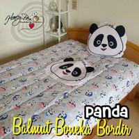 Balmut Bantal Selimut Kepala Panda