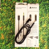 Kable cable aux lightning jack jek 3.5mm iphone 6 7 8 X 8 plus