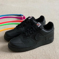 Nike Air Force 1 Velcro Black Swoosh Pack (100% Original) - 40